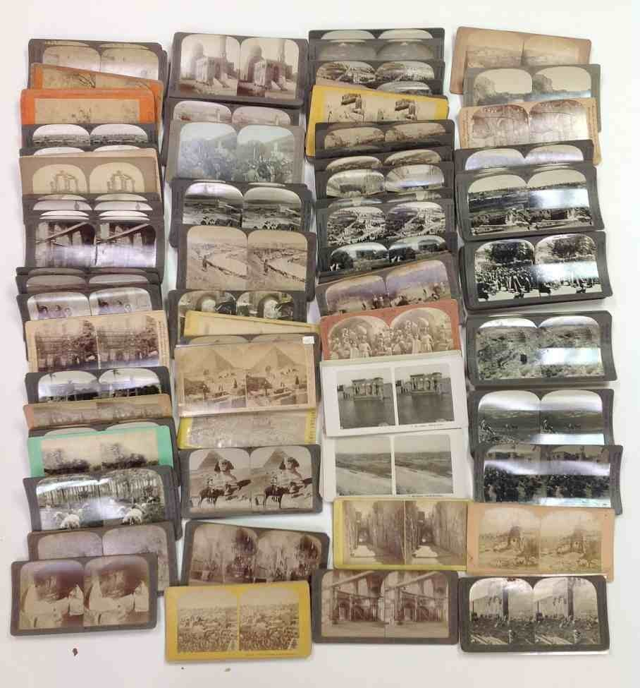 144 Real Photo Stereo Cards Palestine & Middle East,