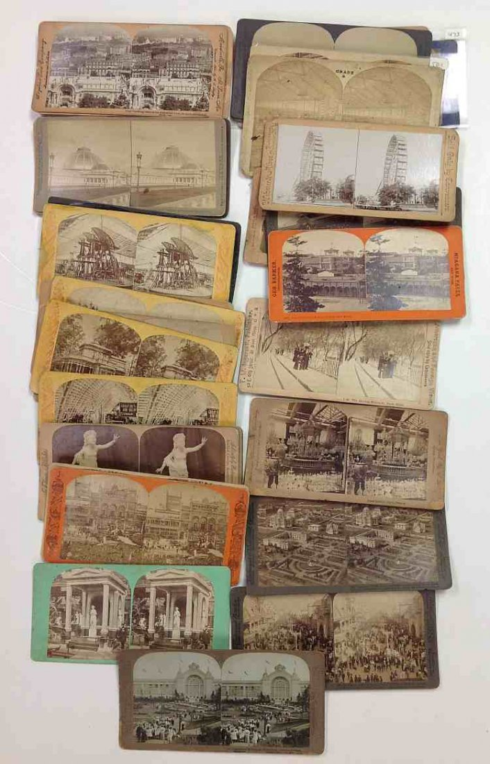 35 Expo Views Real Photo Stereo Cards, overall godd