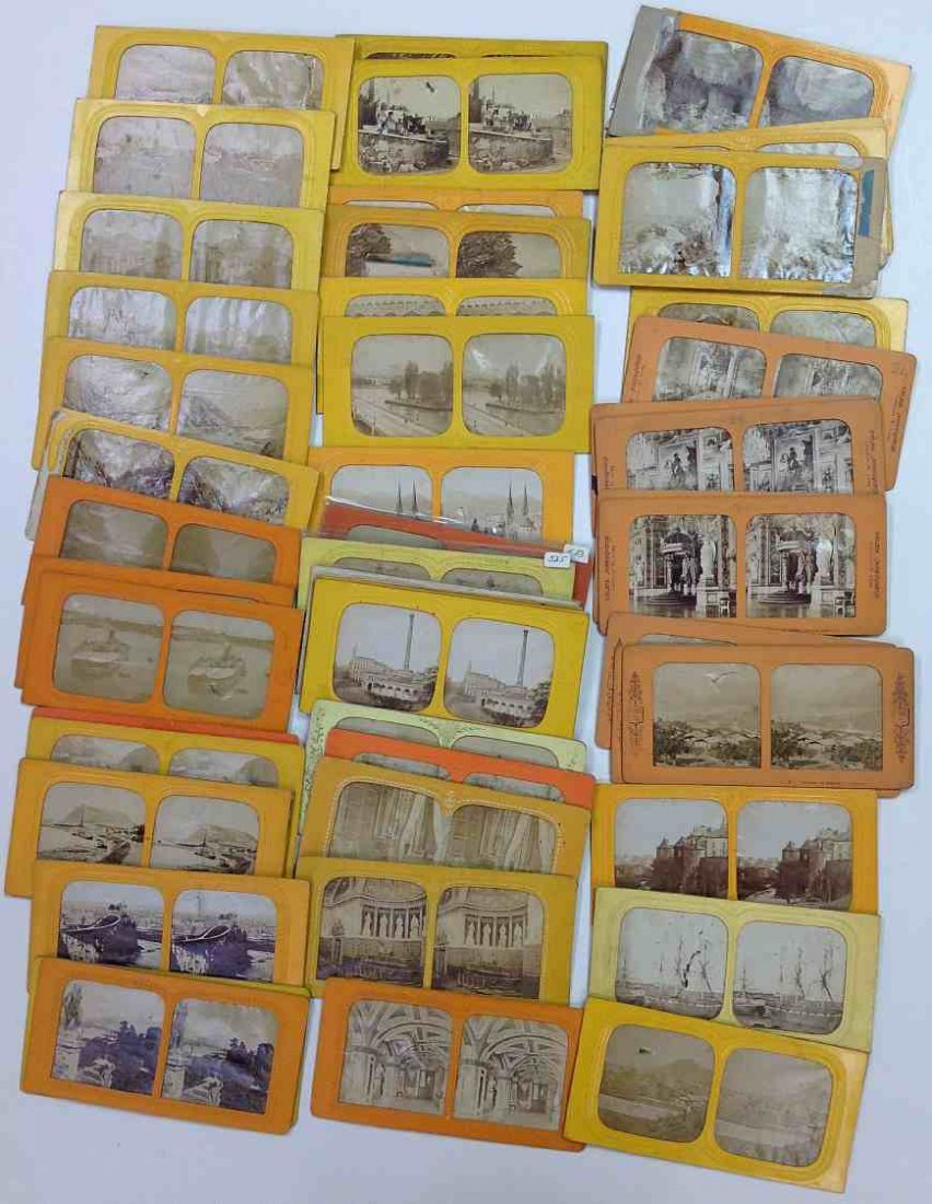 54 Tissue Views Stereo Cards
