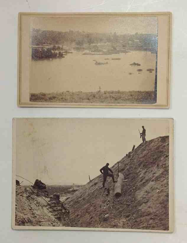 2 Civil War cdvs of Confederate scenes, one is by