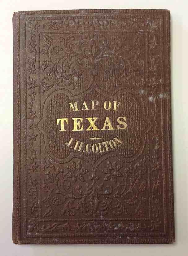 JH COLTON 1853 TEXAS FOLDING MAP
