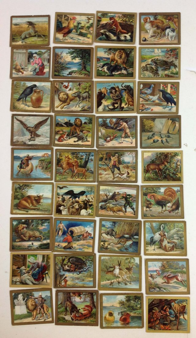 36 Turkish Trophies Fabel series Tobacco cards