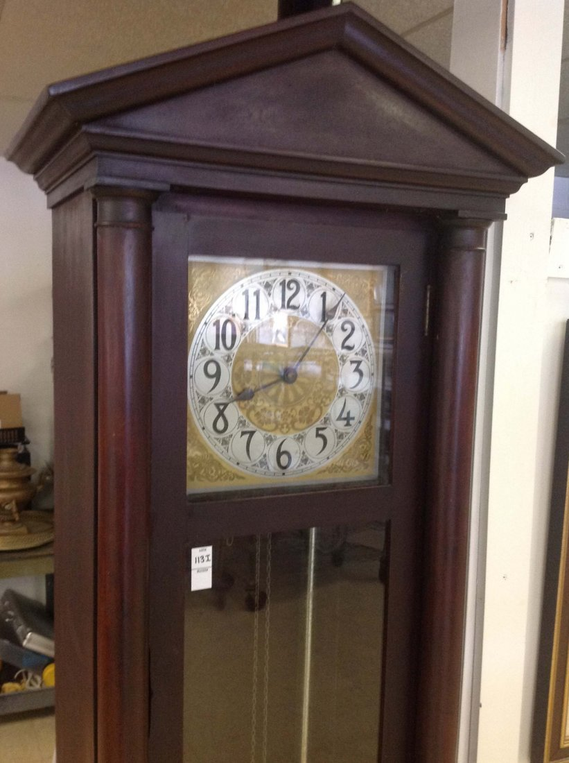 Mahogany Grandfather Clock, Royal Furniture Co, Grand - 2