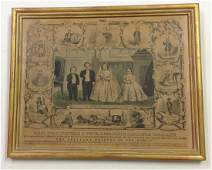 Currier and Ives lithograph of Tom Thumb  Wife