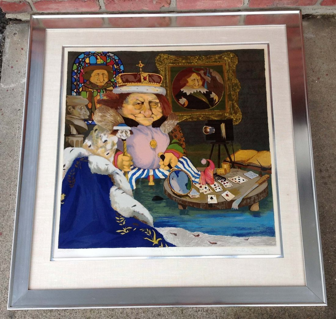 """Charles Bragg signed print """"The King of Me's"""" numbered"""