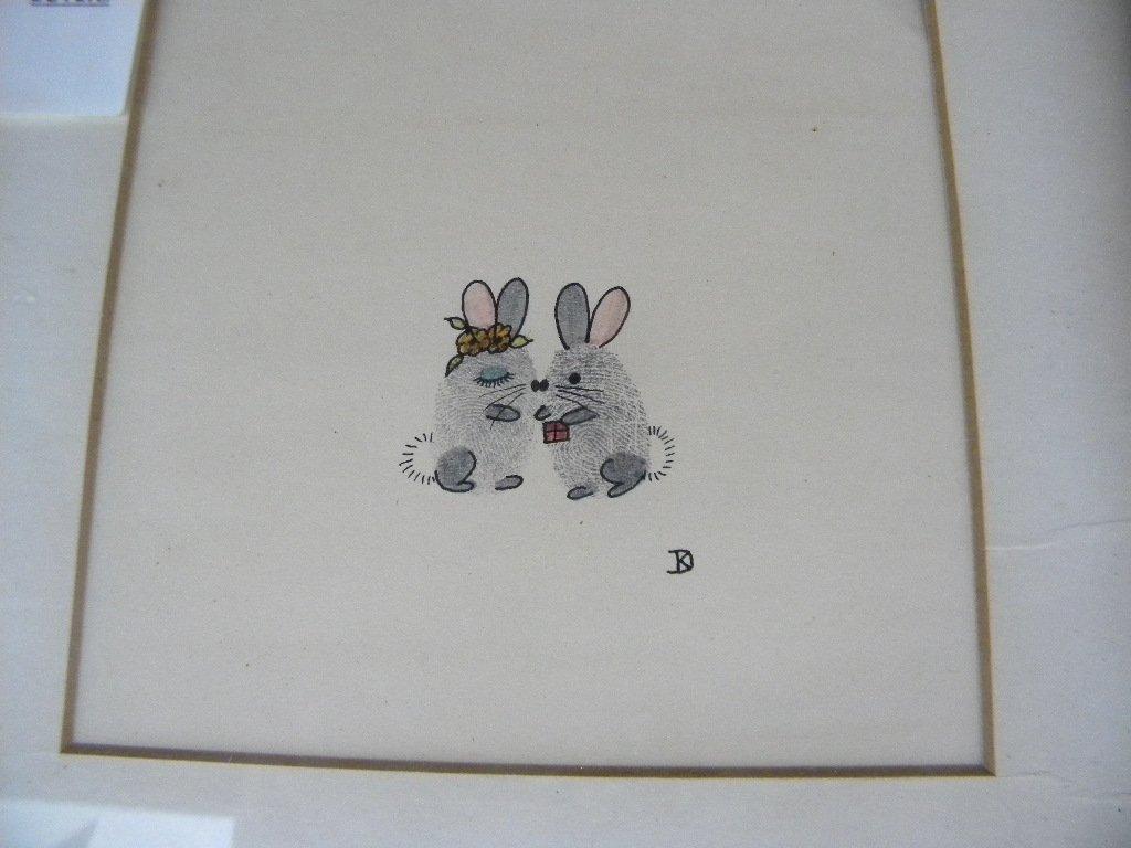PEN & INK OF 2 MICE BY KATE DENISON, GREENWICH VILLAGE, - 2