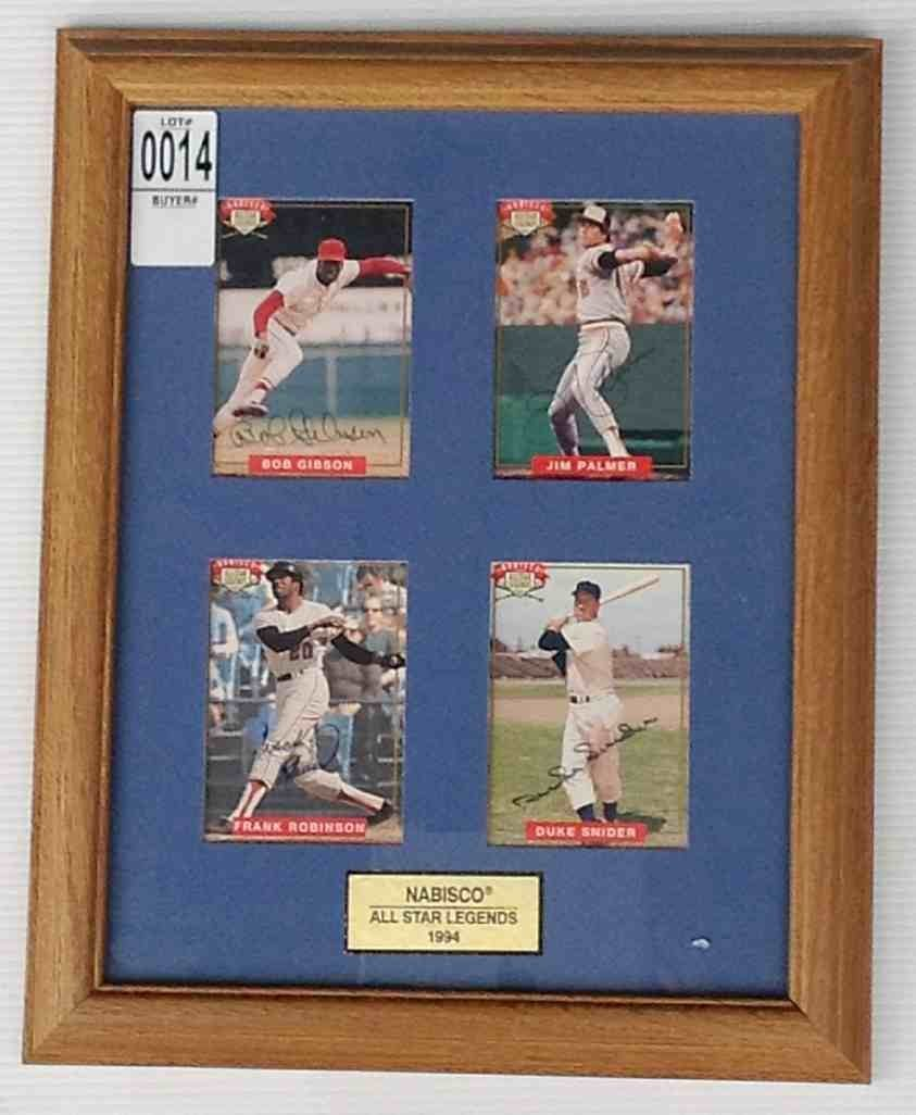 4 NABISCO ALL STAR LEGENDS SIGNED CARDS, BOB GIBSON,