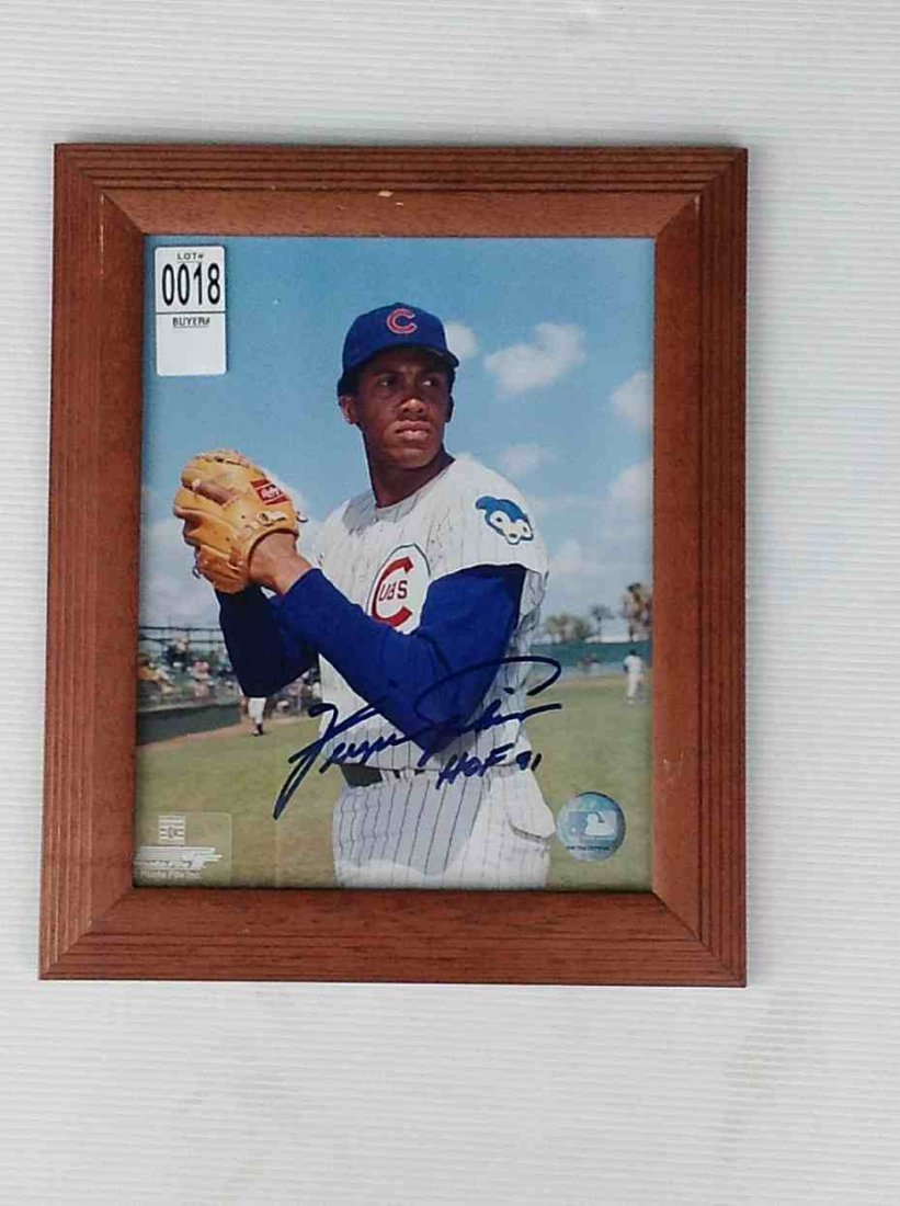 "FERGUSON JENKINS SIGNED PHOTOGRAPH, 12"" X 10"", FROM THE"