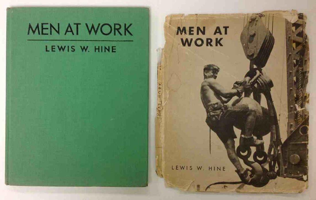 LEWIS W HINE MEN AT WORK 1932, MACMILLAN & CO., 1ST