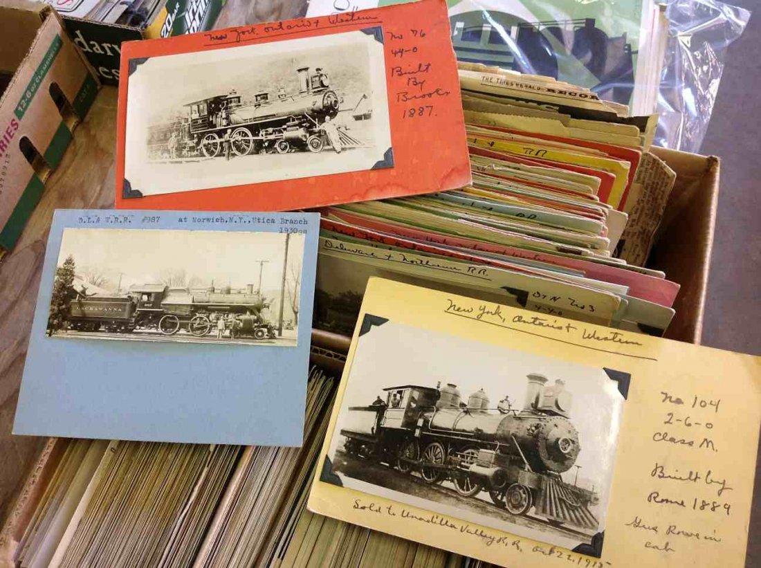 BOXLOT EARLY RAILROAD PHOTOGRAPHS & RPPC'S OF TRAINS,