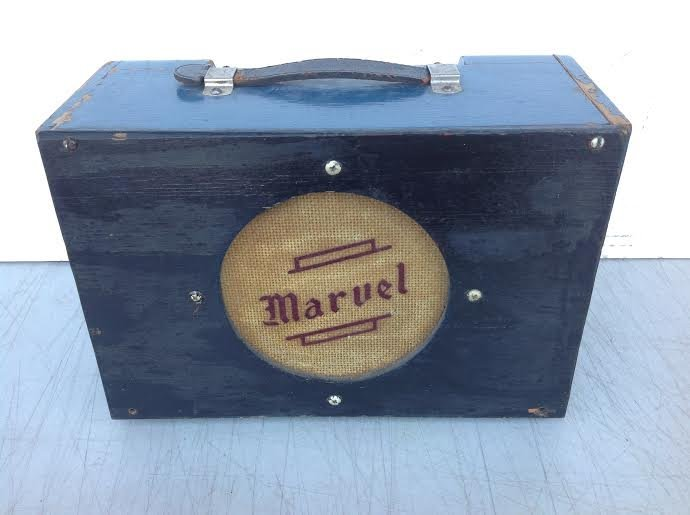 EARLY MARVEL SMALL GUITAR AMPLIFIER IN ORIGINAL BLUE