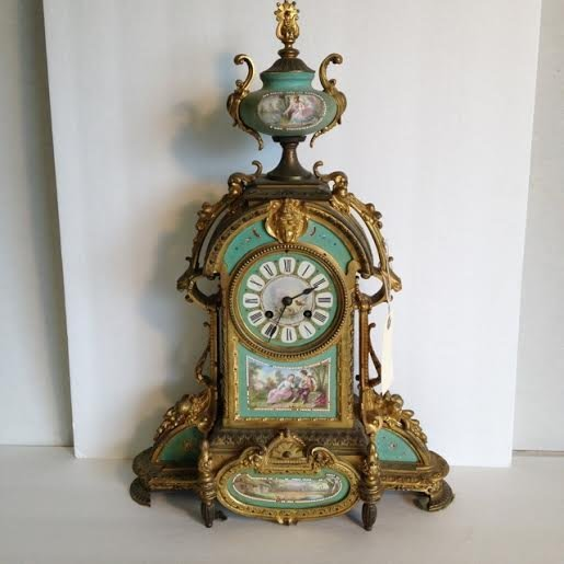 EARLY DECORATIVE FRENCH HANDPAINTED GILT IRON FANCY