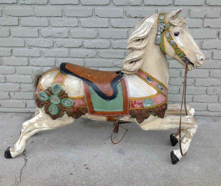 HEYN GERMAN CAROUSEL HORSE IN ORIGINAL AS FOUND