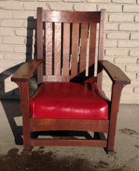 Swell L Jg Stickley Mission Oak Rocking Chair Original Creativecarmelina Interior Chair Design Creativecarmelinacom