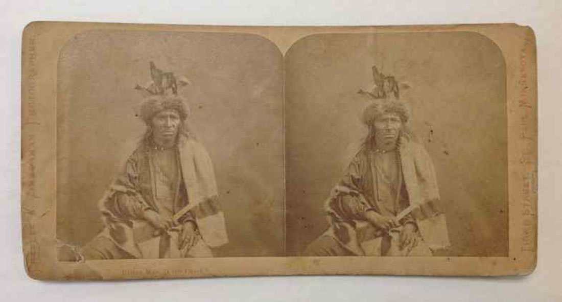 BITTER MAN CREE CHIEF STEREO CARD BY CHARLES ZIMMERMAN,