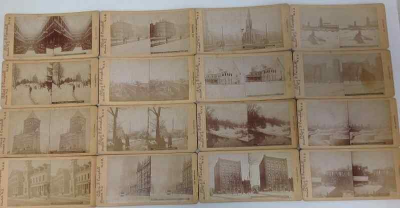 (16) CLEVELAND OHIO STEREO CARDS, BY ALFRED S.