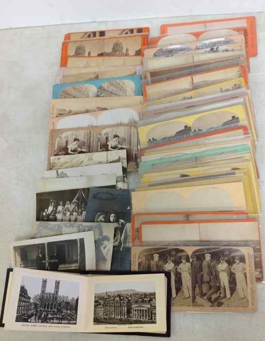(45) REAL PHOTO STEREOVIEWS , 7 RPPC'S, & MONTREAL