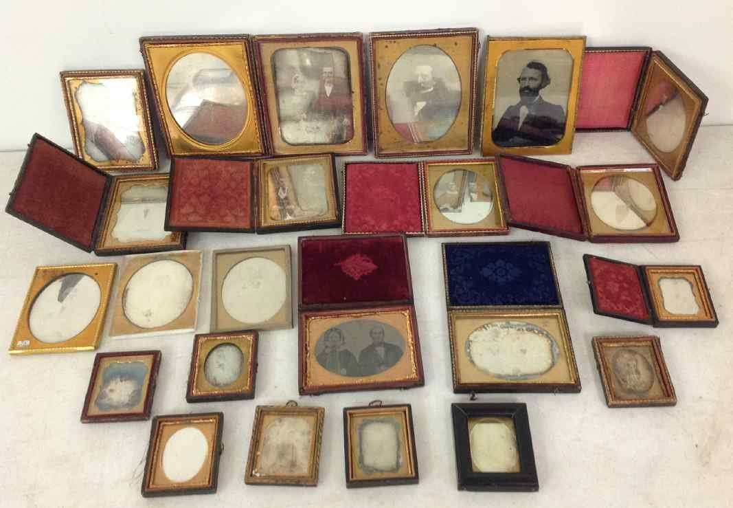 23 IMAGES COMPRISING 21 DAGUERREOTYPES, 1 AMBROTYPE,