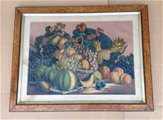 LARGE CURRIER  IVES PRINT TITLED AMERICAN PRIZE