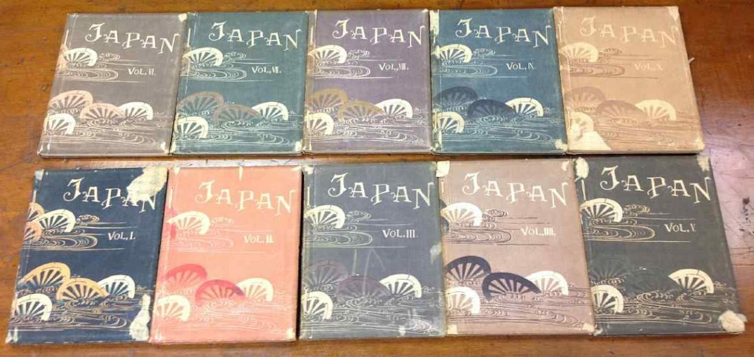 10 VOL 1897 JAPAN, EDITION DE LUXE, LIMITED TO 750