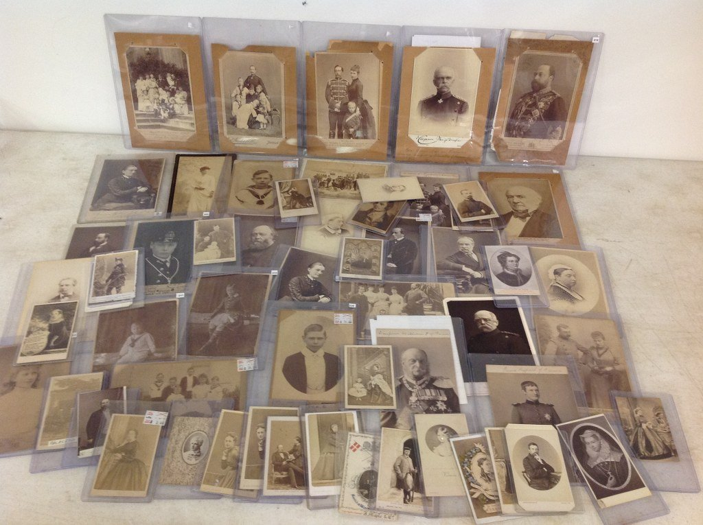 LOT OF 58 CABINET CARDS AND CDV'S OF ROYALTY AND