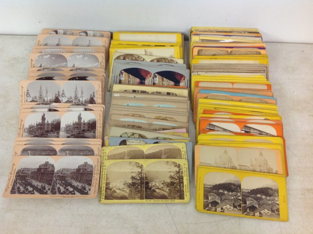 LOT OF 178 STEREOVIEWS, MOSTLY EUROPEAN, SOME AMERICAN.