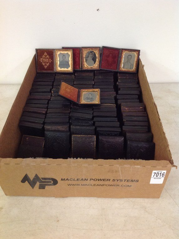 LOT OF 95 NINTH-PLATES, MOSTLY AMBROTYPES, SOME TINS,