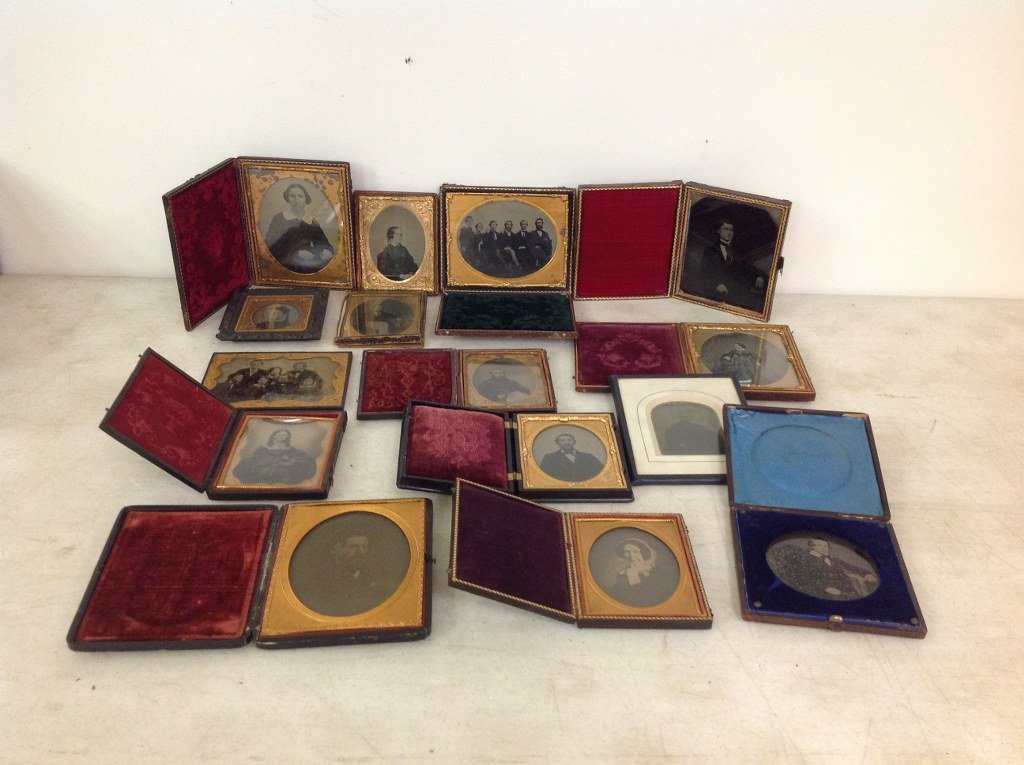LOT OF 15 IMAGES, ALL BUT 1 IN CASES OR FRAMES; 5