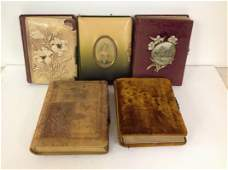 LOT OF 5 VICTORIAN ERA PHOTO ALBUMS FROM  KINGSTON NEW