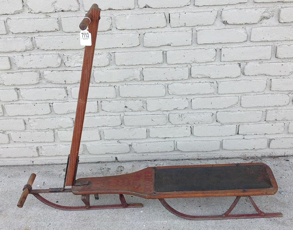 TURN OF THE CENTURY LIGHTNING SCOOTER SLED, ALL INTACT,