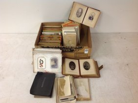 Large Lot Of Cdv Albums, Stereoviews And Cabinet Cards,