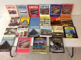 (22) Railroad Books, Most All Hardcover With Dust