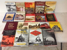 (19) Railroad Books, All Hardcover, All With Dust