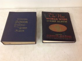 (2) Partial Stamp Albums, From Local Estate. Not