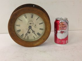 Chelsea Clock Co. Round Brass Ship Clock, No Key, From