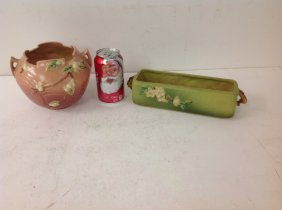 (2) Roseville Art Pottery Vases, Both In Very Nice