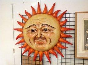 Sergio Bustamante Paper Mache Sun Face, #2/100,