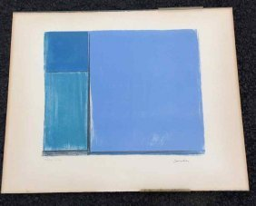 Ludwig Sander 1964 Abstract Signed Print, #23/30,
