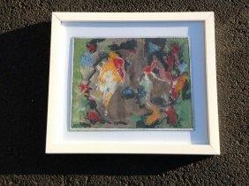 Rolph Scarlett Abstract Goauche, Framed, Signed Lower