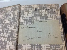 (2) Sinclair Lewis Books One Inscribed And Signed