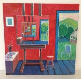 Robert Blanchard O/b Artist Studio Interior, Circa 1970
