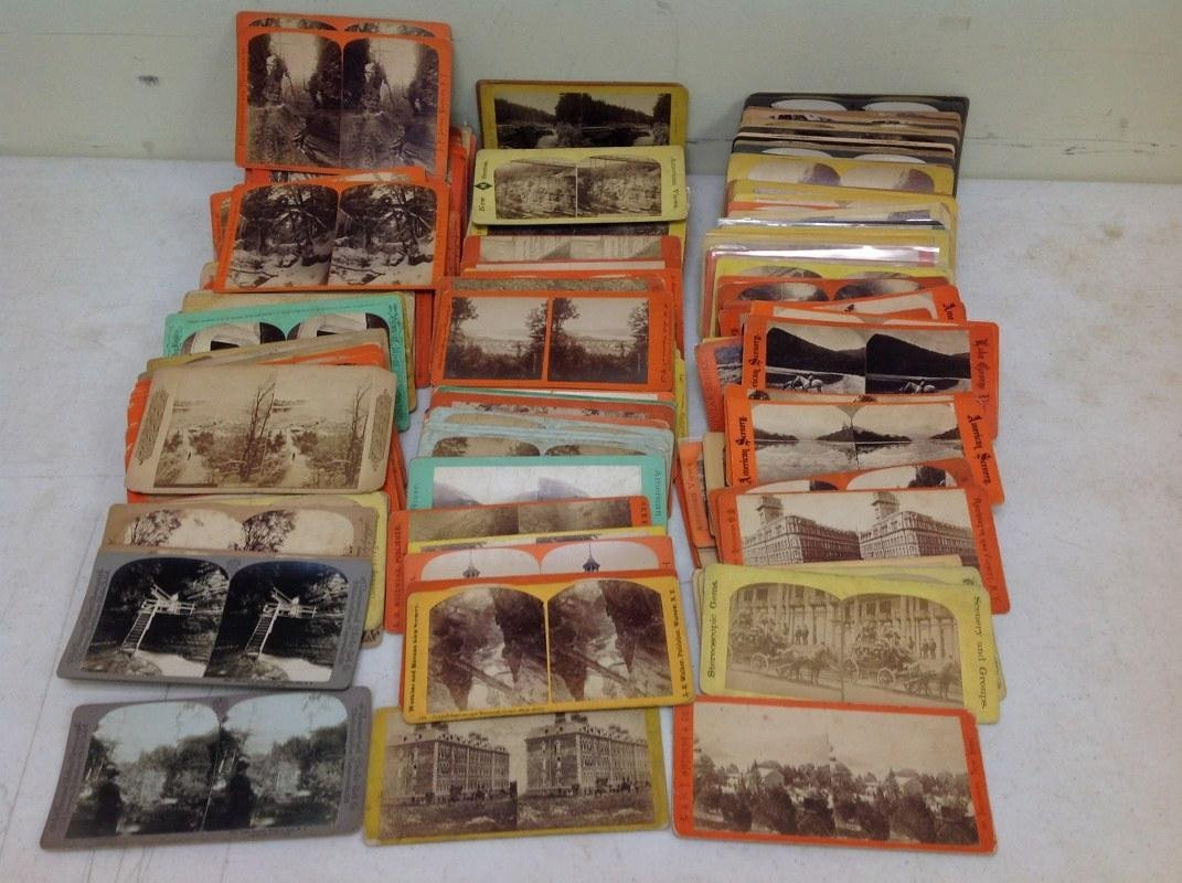 LOT OF 240 NEW YORK STATE STEREOVIEWS, ALL REAL PHOTO,