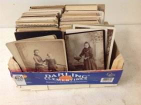 Lot Of 245 Cabinet Cards Including Men, Women And