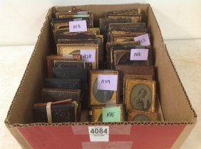 Lot Of 35 Images: Tintypes, Daguerreotypes &