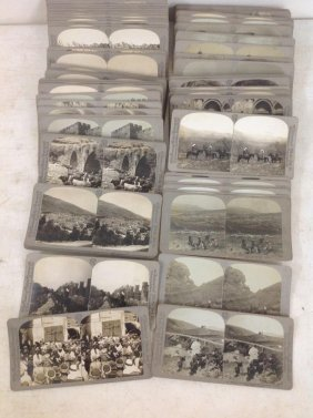Lot Of 73 Stereoviews Of Palestine By Universal Photo