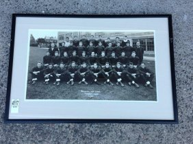 1936 Bethlehem High Football Team Photograph, Framed