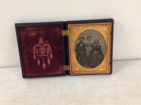 A P Critchlow & Co. Gutta Case With Ambrotype. Label