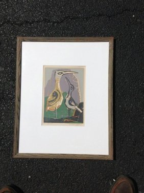 Ethel Magafan Signed Print Titled 2 Birds, Nicely