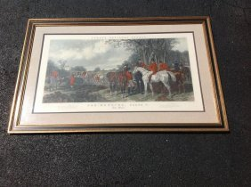 Large Framed Hunt Print-fores's National Sports,