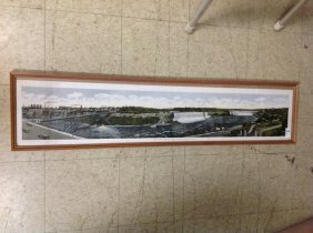 Panoramic Lithograph Of Niagara Falls, Published By